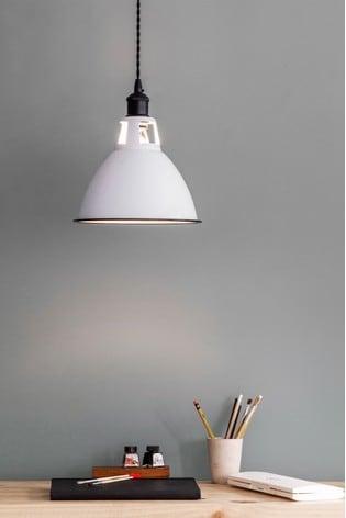 Garden Trading White Albion Domed Pendant Light