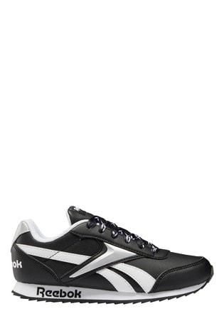 Reebok Classic Black/White Running Trainers