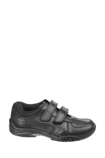 Hush Puppies Black Jezza Junior School Shoes