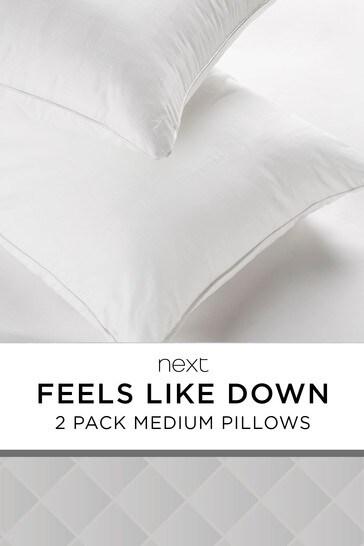 Medium Set Of 2 Feels Like Down Pillows