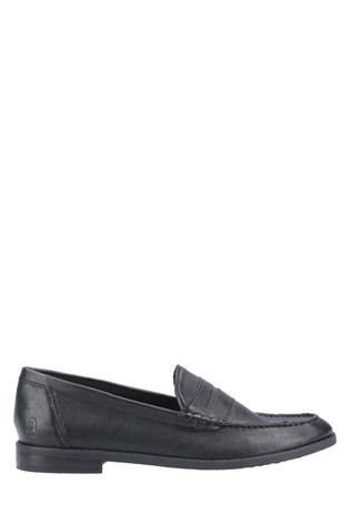 Hush Puppies Black Wren Slip-On Loafers