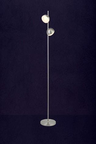 Searchlight Silver Grace 2 Light LED Floor Lamp