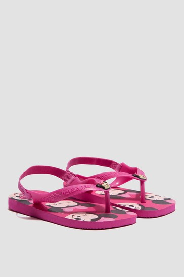 Baby Boys Pink Minnie Mouse Flip Flops
