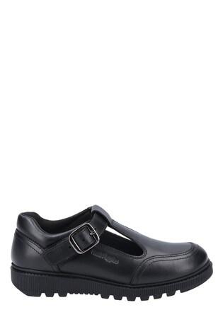 Hush Puppies Black Kerry Senior School Shoes