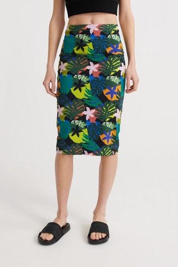 Superdry Miami Midi Bodycon Skirt