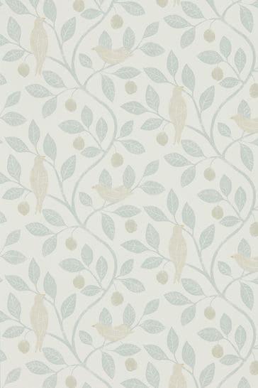 Sanderson Home Grey Damson Tree Wallpaper
