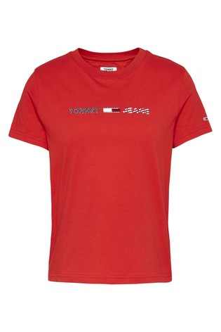 Tommy Jeans Americana Straight Logo T-Shirt