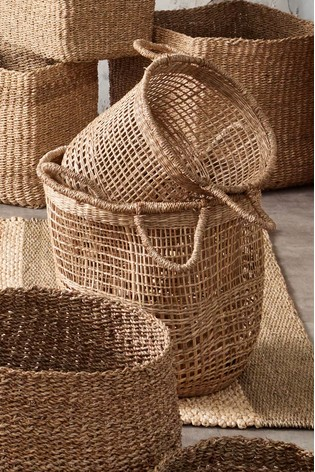 Set of 3 Open Weave Storage Baskets by Pacific