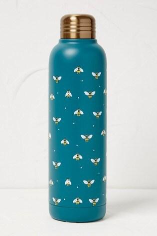 FatFace Blue Floral Print Water Bottle