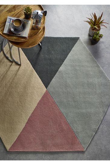 Hexagon Geo Wool Rug by Origins
