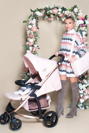 Billie Faiers Rose Gold and Blush Travel System by My Babiie