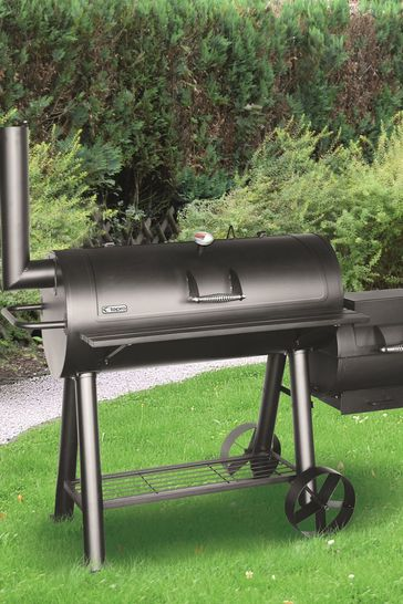 Milwaukee Charcoal Offset BBQ Pit Smoker By Tepro