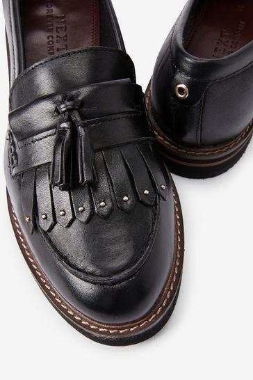 Black Regular/Wide Fit Leather Forever Comfort® EVA Loafers