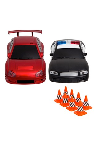 Sharper Image RC Drifter & Police Car 2 Pack With Cones