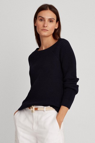 Lauren Ralph Lauren® Navy Elvin Cable Jumper