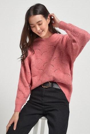 Pink Stitch Detail Jumper