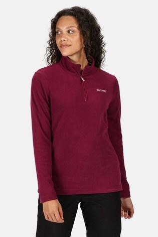 Regatta Purple Sweethart Half Zip Fleece