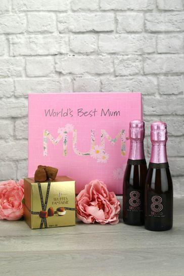 World Best Mum Sparkling Rosé Truffles Gift Set by Le Bon Vin