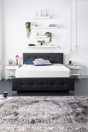 Aspire End Lift Ottoman Fabric Bed Frame and Mattress