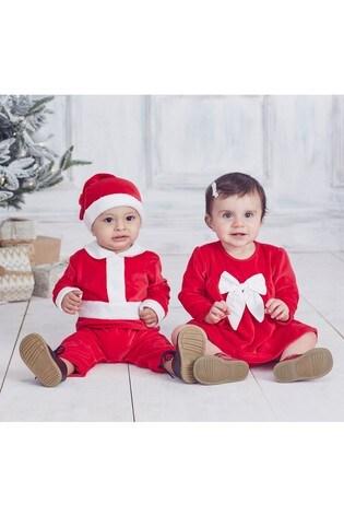 Kissy Kissy Red Santa Romper