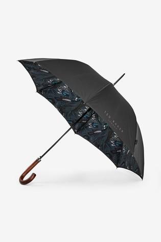 Ted Baker Shordit Branded Paisley Umbrella