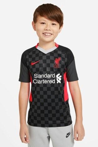 Nike Black Liverpool FC Third 20/21 Kids Football Shirt