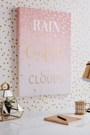 Confetti Typography Wall Art by Art For The Home