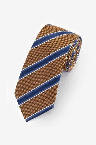 Yellow/Blue Stripe Pattern Tie