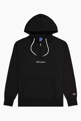 Champion Black Half Zip Hoodie