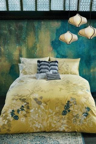 Rita Ora Yellow Rhoda Floral Duvet Cover