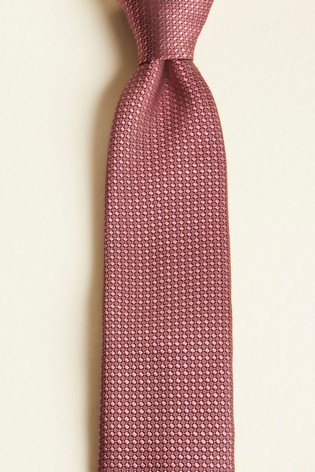 Moss London Rose Pink Textured Tie