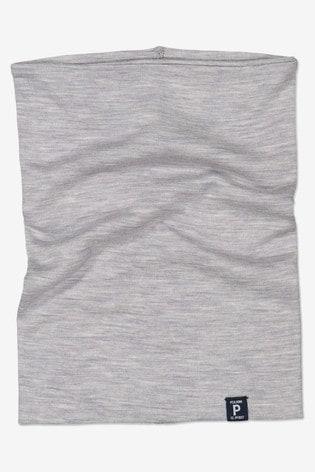 Polarn O. Pyret Grey Soft Merino Neck Warmer