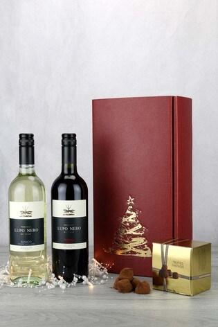 Festive Italian Wine & Champagne Truffles Gift Set by Le Bon Vin