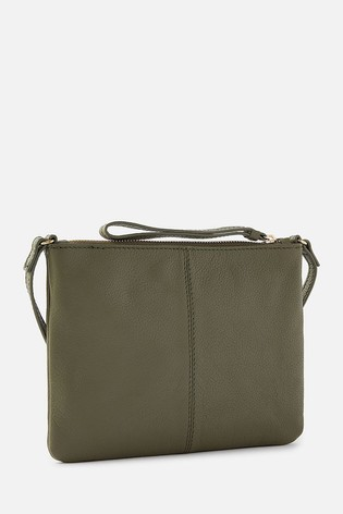 Accessorize Green Sophie Leather Cross Body Bag