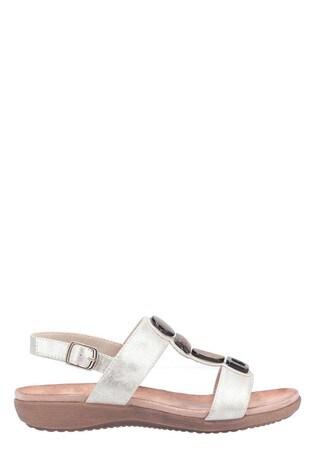Fleet & Foster Cream Rosa Buckle Sandals