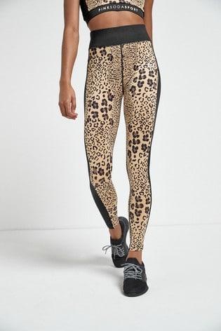 Pink Soda Boca Leopard Leggings