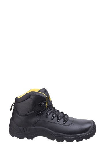 Amblers Safety Black FS220 Waterproof Lace-Up Safety Boots