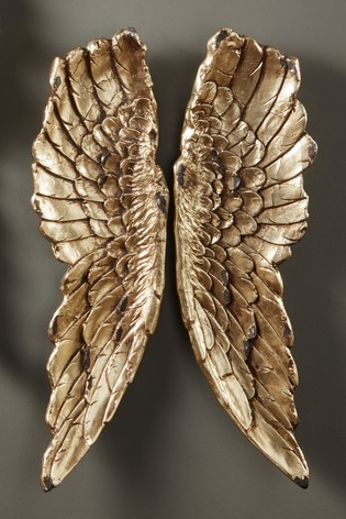 Antique Gold Angel Wings Wall Art by Pacific