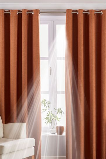 Twilight Blackout Eyelet Curtains by Riva Home