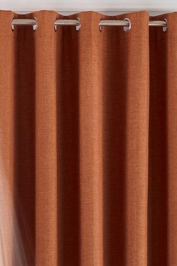 Riva Home Orange Twilight Blackout Eyelet Curtains