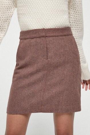 Berry Textured Mini Skirt