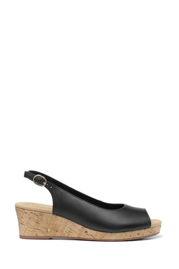 Hotter Tahiti Wide Fit Buckle Fastening Wedge Sandals