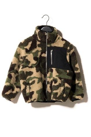 Sometime Soon Camouflage Zip Fleece