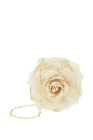 Monsoon Gold Shimmer Petal Flower Bag
