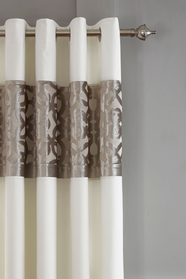 Lattice Cut Velvet Lined Curtains by Catherine Lansfield