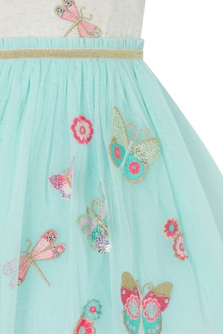 Monsoon Blue Baby Butterfly Disco Dress