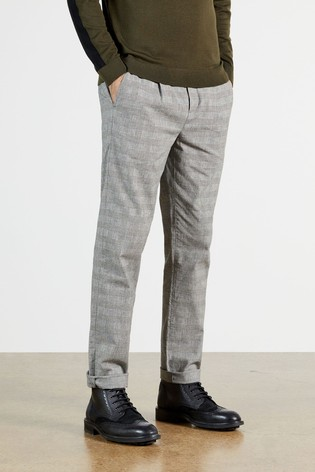 Ted Baker Aloetro Checked Smart Trousers