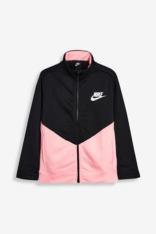 Nike Black/Pink Poly Tracksuit