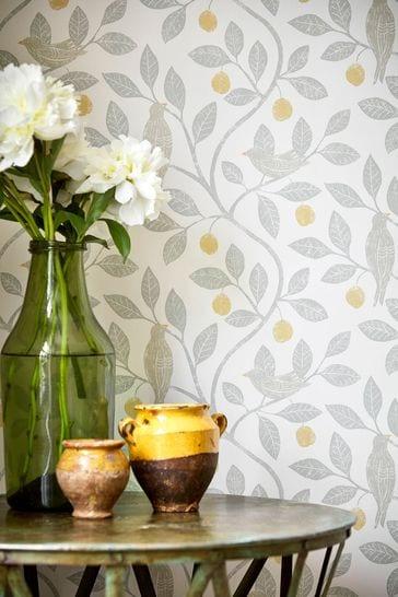 Sanderson Home Natural Damson Tree Wallpaper