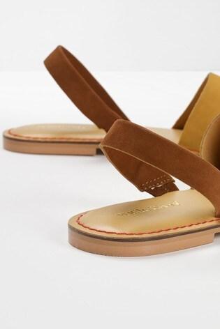 White Stuff Yellow Elsie Slingback Sandals